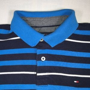 Tommy Hillfiger Blue Striped Polo